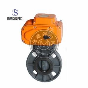 D971S电动PVC对夹蝶阀现货促销