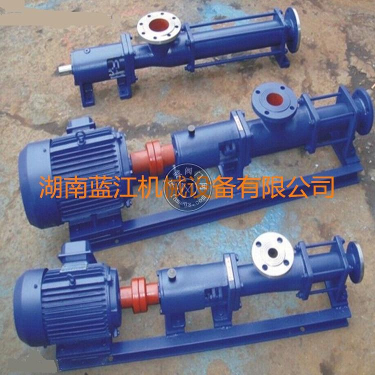 G型污水处理单螺杆泥浆泵