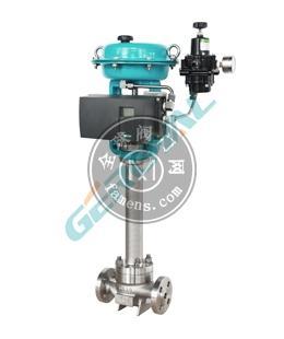 815D低溫液氮專用電動氣動調節閥精歐控制閥門中英合資