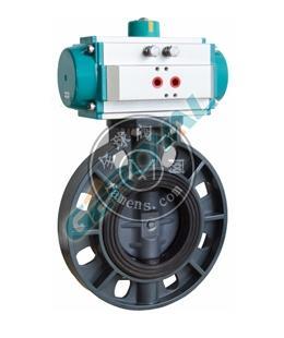 710S工程塑料電動氣動蝶閥精歐控制閥門中英合資