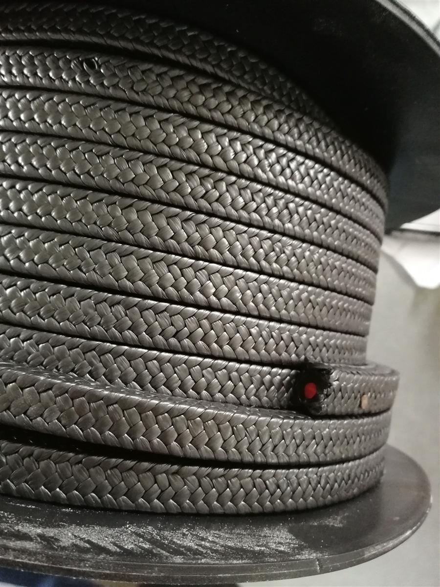 进口硅胶芯黑四氟盘根密封填料