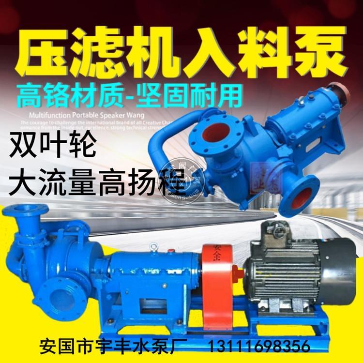 压滤机专用入料泵耐磨渣浆泵杂质泵压滤机入料泵厂家浮选机喂料泵