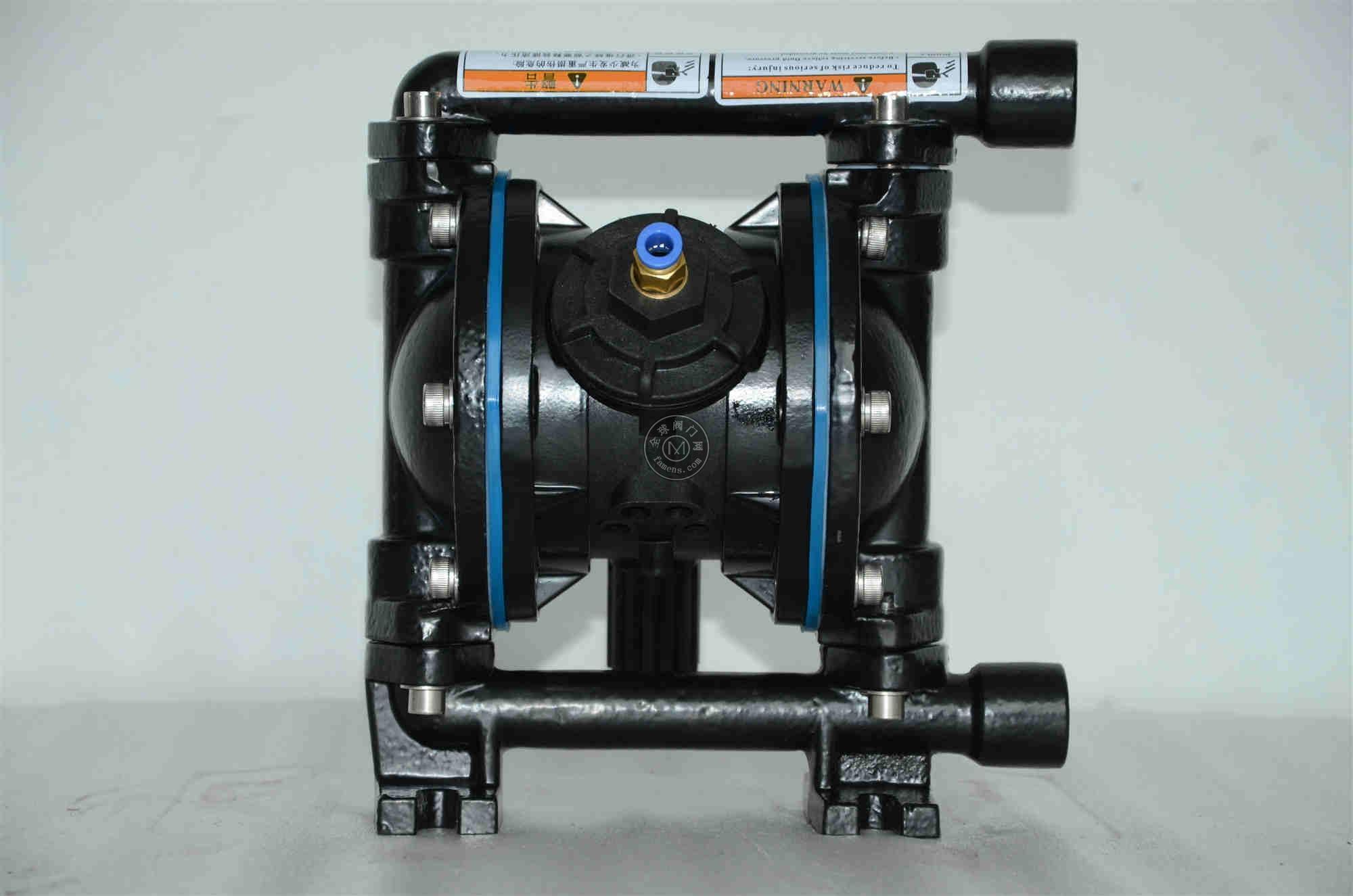 上海超凡QBY3-15G铸钢气动隔膜泵 污水泵