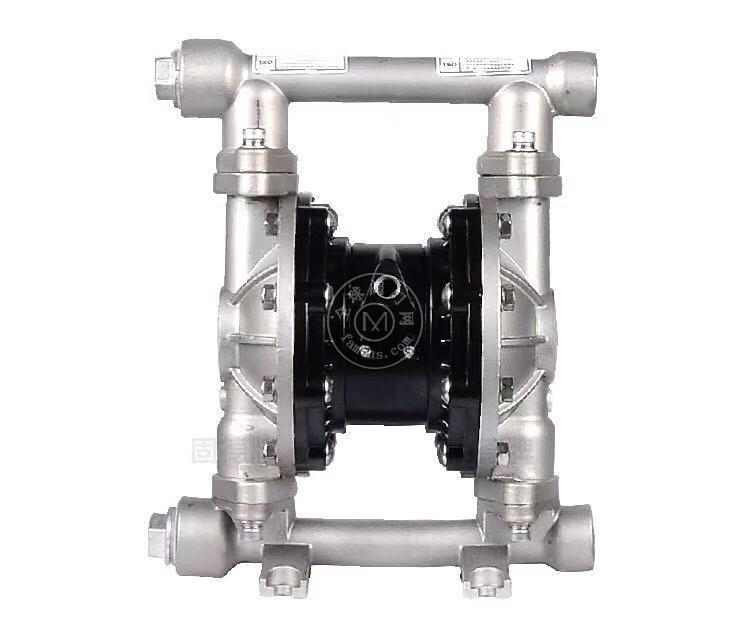 河南边锋固德牌第三代气动隔膜泵QBY3-20/25PFFF不锈钢