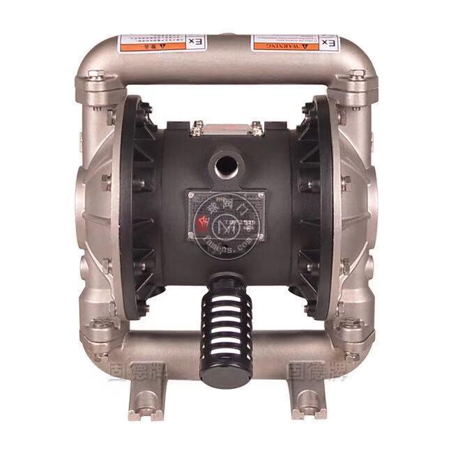 河南边锋固德牌第三代气动隔膜泵QBY3-25APFFF不锈钢