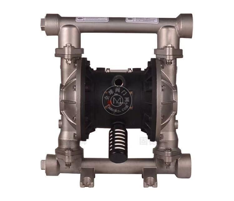 河南边锋固德牌第三代气动隔膜泵QBY3-32/40PFFF不锈钢