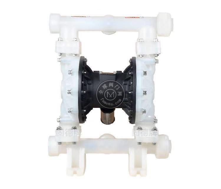 河南边锋固德牌第三代气动隔膜泵QBY3-50/65SFFF塑料PP聚丙烯
