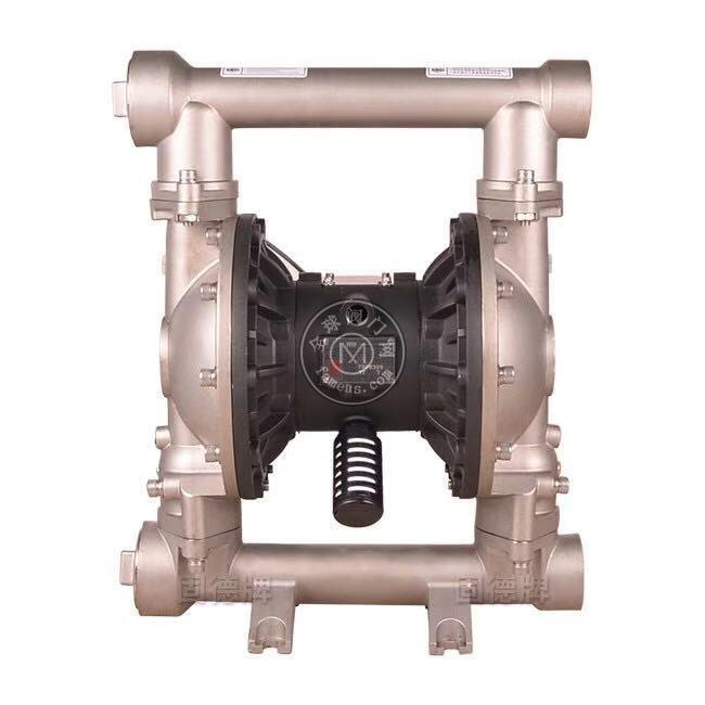 河南边锋固德牌第三代气动隔膜泵QBY3-50/65PFFF不锈钢