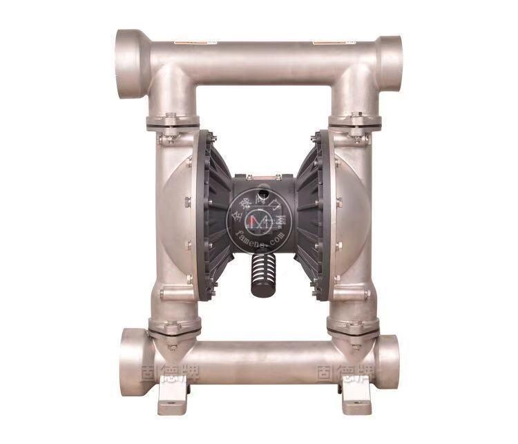 河南边锋固德牌第三代气动隔膜泵QBY3-80/100PFFF不锈钢