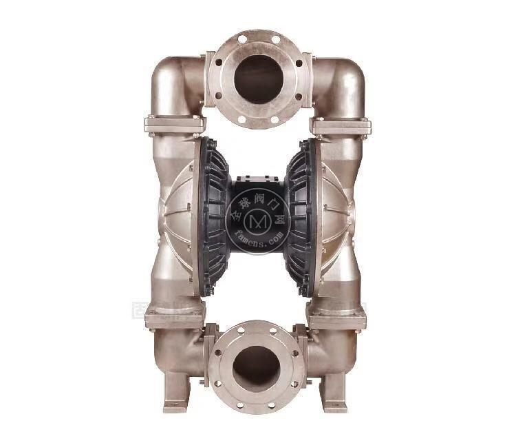 河南边锋固德牌第三代气动隔膜泵QBY3-125PFFF不锈钢