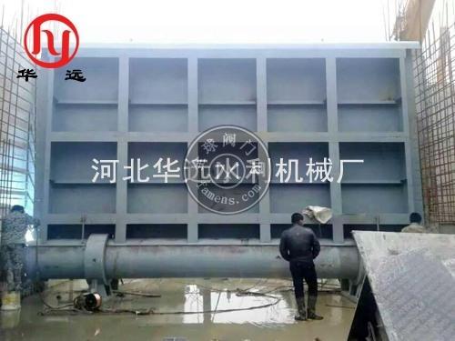 钢坝闸 低轴驱动翻板闸门