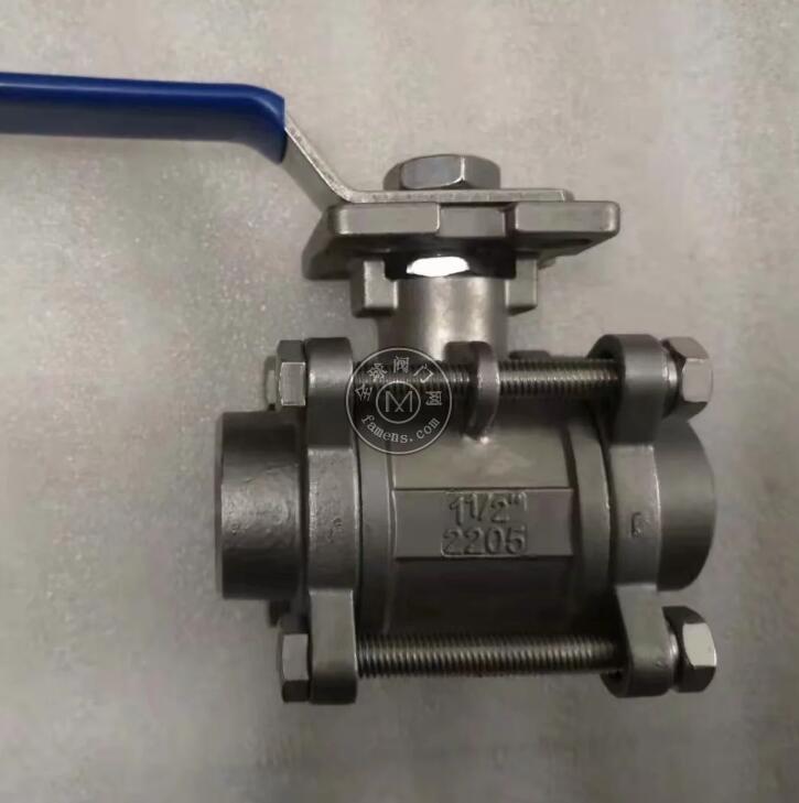 SS2205 SS2507三片式承插焊球阀 三片式对焊球阀