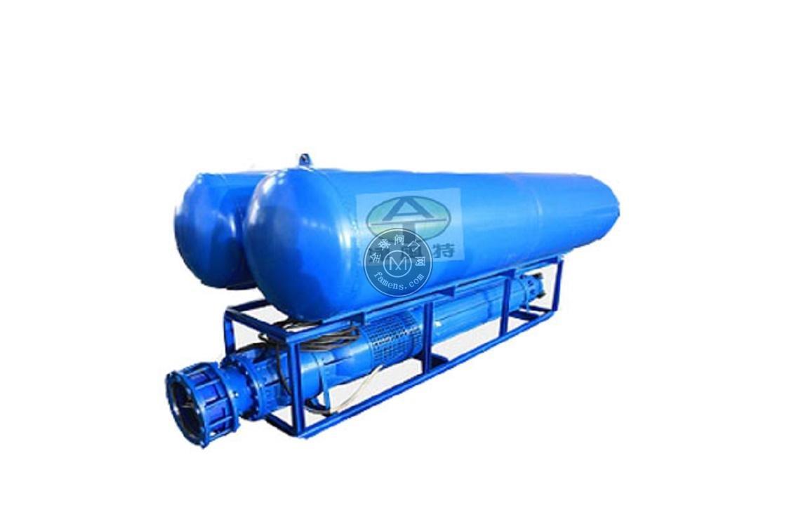 雪橇式潜水轴流泵_斜卧式安装