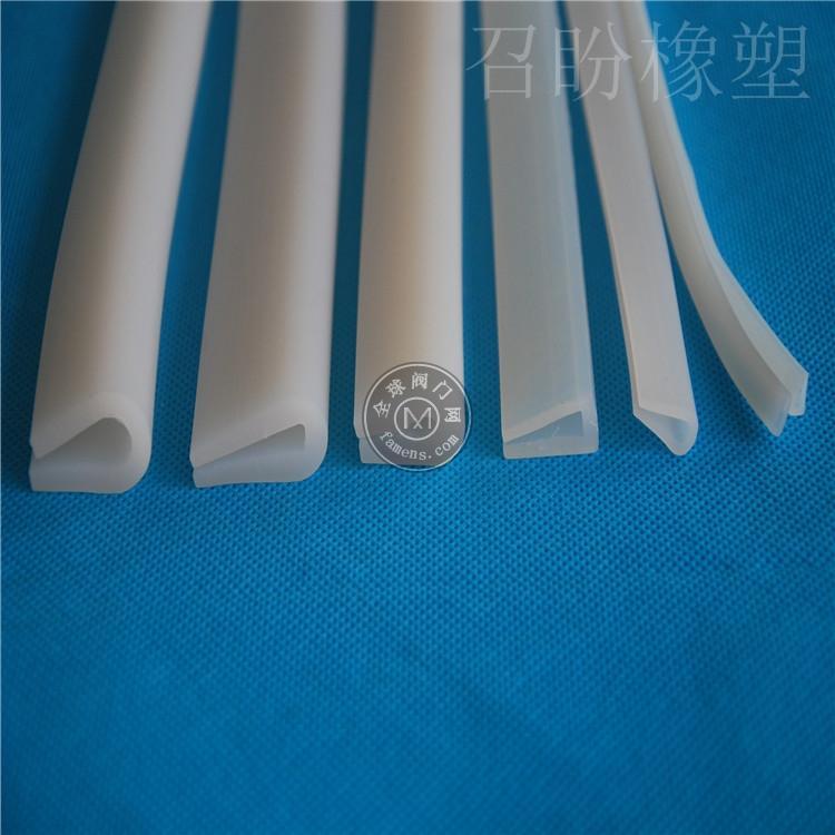 U形硅胶机械耐高低温包边玻璃条