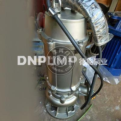 供应天津德能泵业精铸不锈钢污水泵不锈钢排污泵