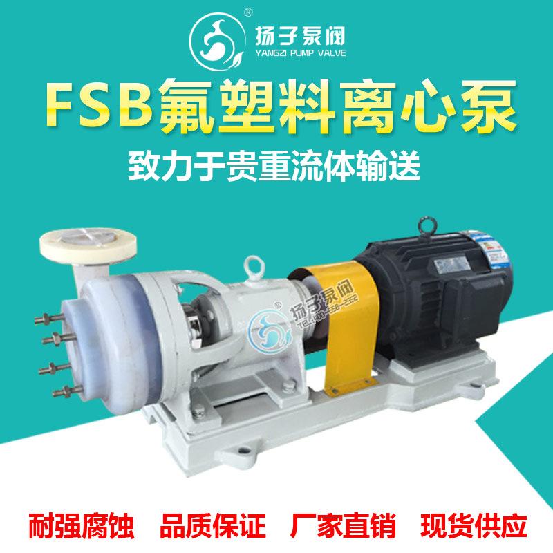 FSB-L型氟塑料离心泵耐腐蚀化工泵