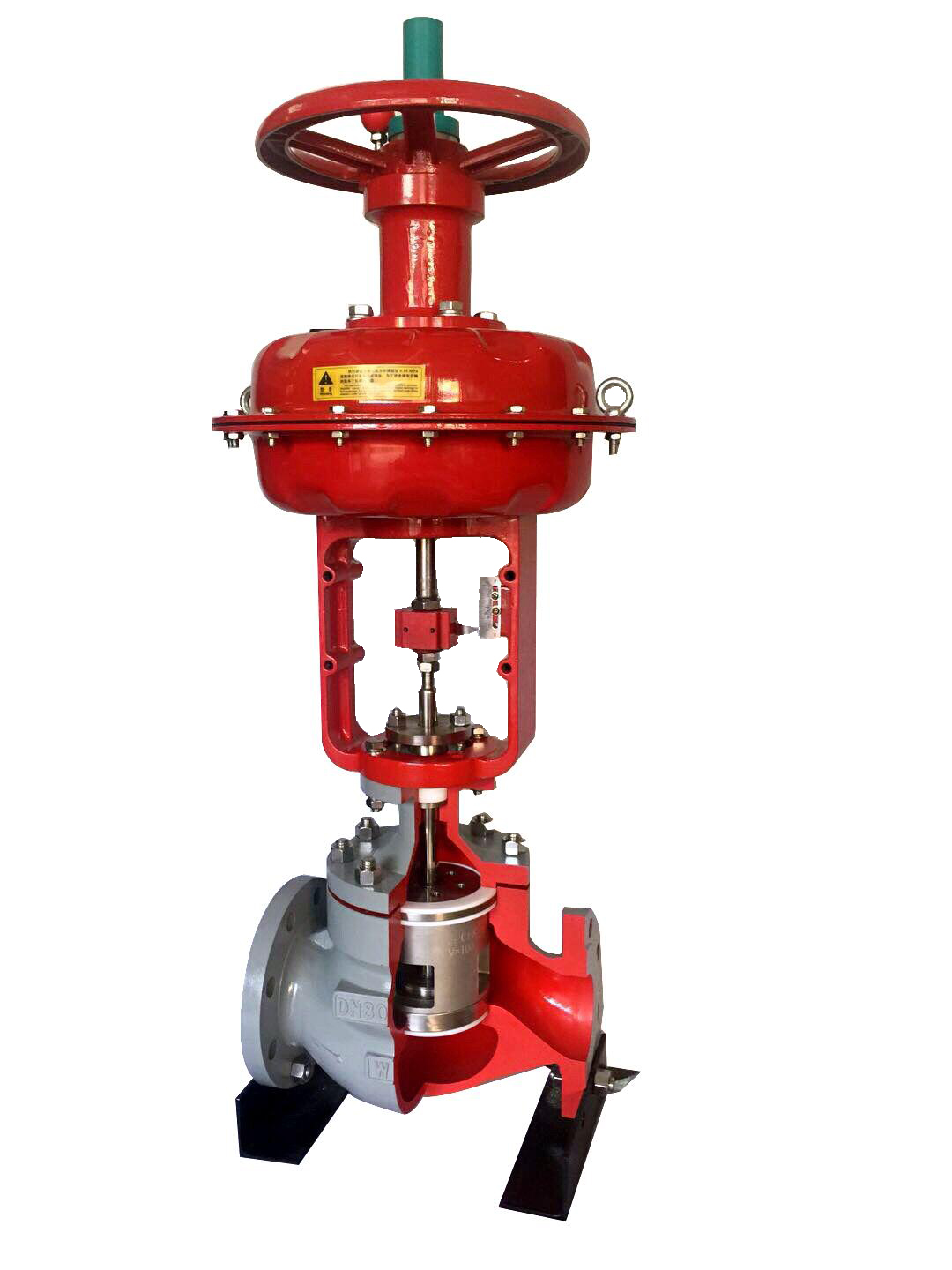 HTS Pneumatic Top-Guided Single-Seated Control Valve
