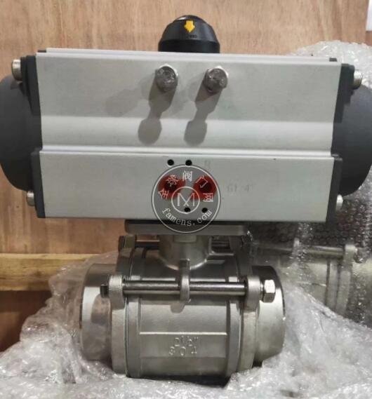 氣動三片式對焊球閥 高壓球閥 耐腐蝕球閥