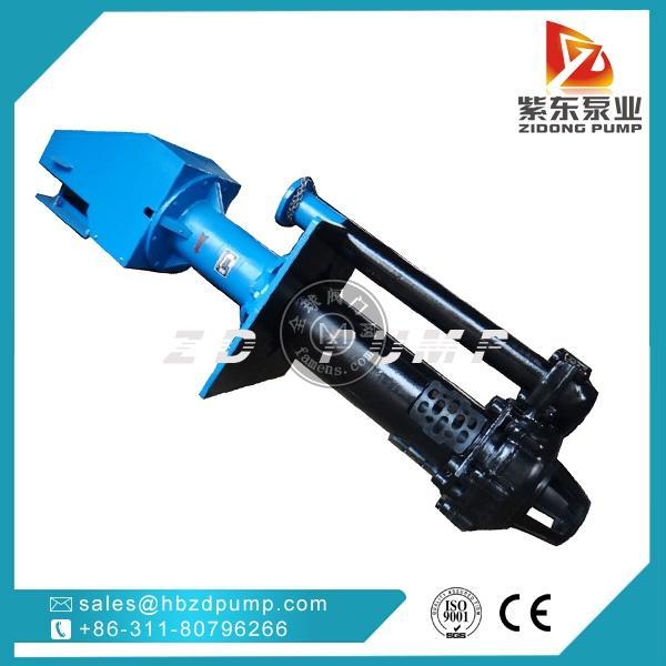 65QV-SPR耐腐蝕橡膠渣漿泵,立式液下排水泵
