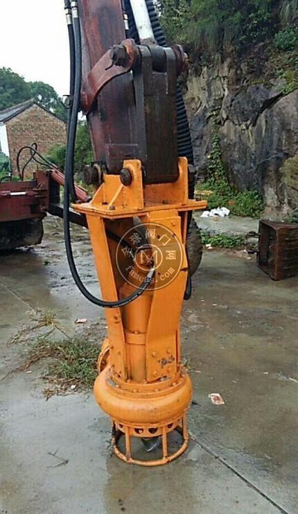 挖机安装泥浆泵,灰浆泵,砂浆泵