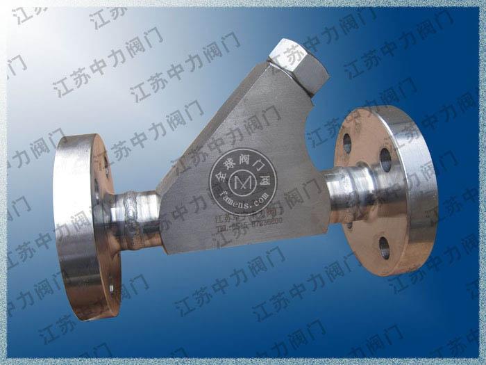 316L不銹鋼高壓法蘭Y型過濾器