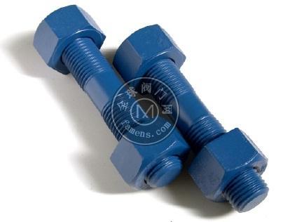 特氟龙双头螺栓 铁氟龙涂层螺栓
