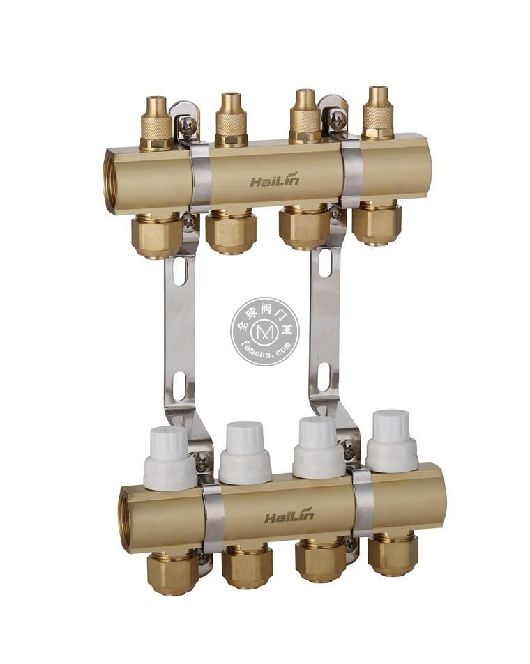 西安海林地暖 分集水器 一体智能控温型TH36 2-3-4-5-6-7-8路集分水器
