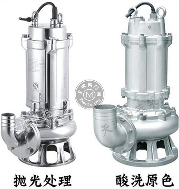 WQ系列污水泵 不锈钢材质潜水污水泵厂家