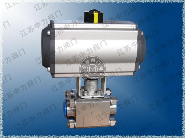 CNG气动焊接球阀 三块式不锈钢球阀