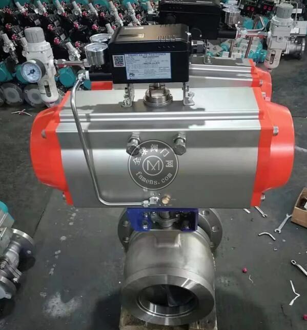 气动调节球阀 对夹V型1.4529 2507 904L