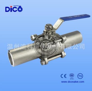 【迪科廠家直銷】工業級加長焊接三片式球閥手動長焊接管球閥