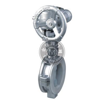 D371F46-10P 不锈钢衬氟蜗轮蝶阀(对夹式)