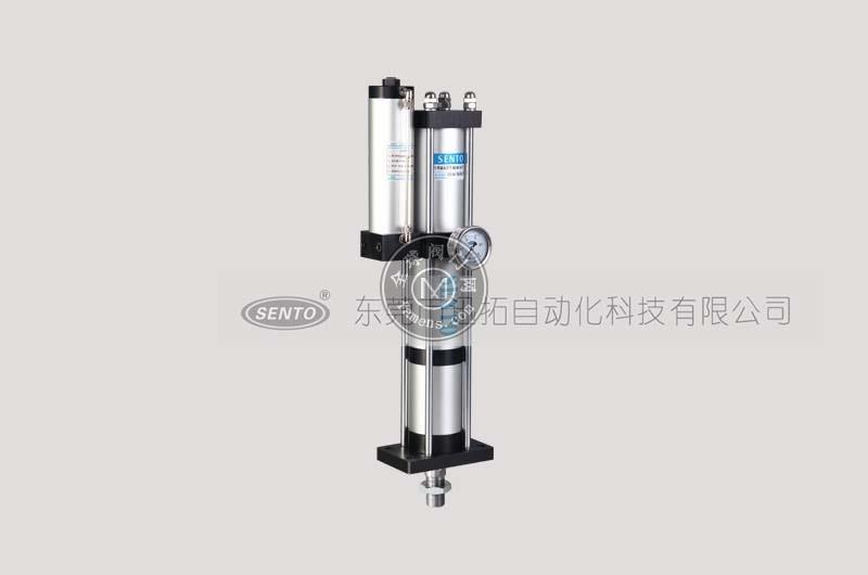 森拓品牌的STF快速型气液增压缸工作频率高、油气隔离、实用性强