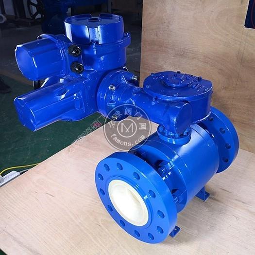 高压矿浆输送专用电动耐磨陶瓷球阀
