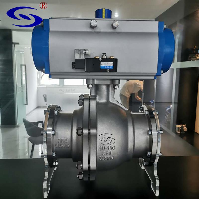 高川阀门GUQ-150单晶炉气动高真空球阀厂家直销