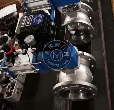 2205气动球阀 2507气动V型球阀 2205硬密封球阀