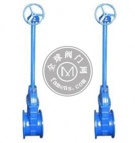 伞齿轮加长杆闸阀Z545X/正齿轮伞齿轮闸阀/上海沪通阀门科技有限公司