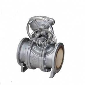 Q341TC蜗轮耐磨排渣陶瓷球阀/电动排渣球阀/上海沪通阀门科技有限公司