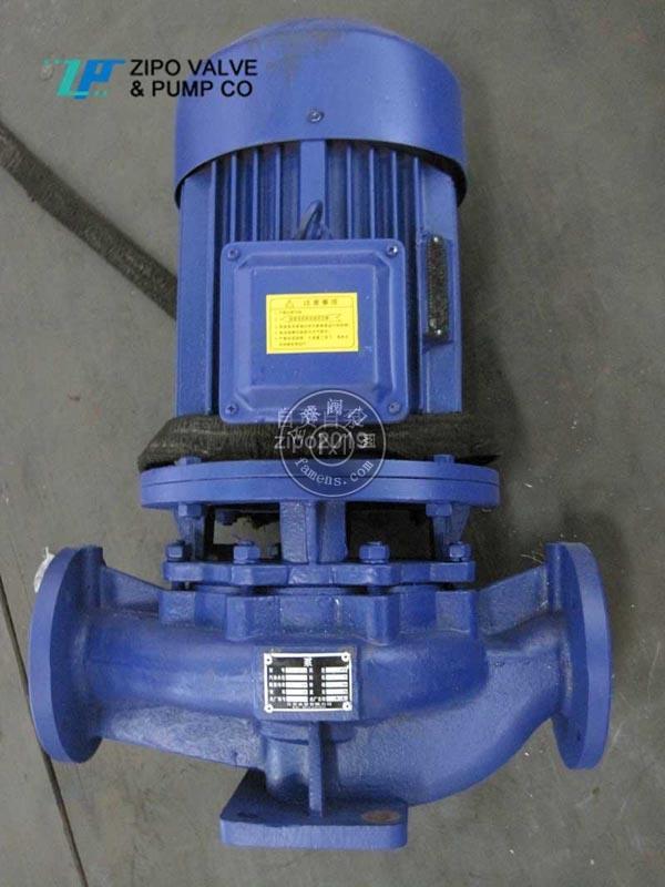 自貢自泵水泵廠ZISG或ZIHG或ZIRG鑄鐵立式管道離心泵立式增壓泵