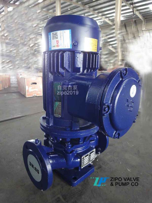 自貢自泵水泵廠ZYG或ZYHG或ZYRG防爆立式管道離心泵立式增壓泵