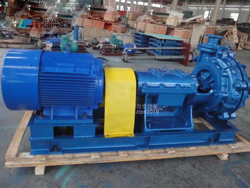 自貢自泵水泵高揚程80ZNG80耐磨合金鋼泥漿泵渣漿泵雜質泵灰渣泵