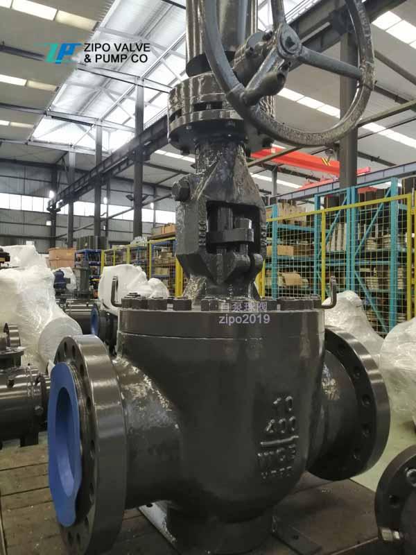 自贡自泵球阀厂自产自销BQ347F 顶装上装式法兰轨道球阀