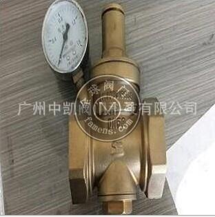 Y13X-16T黃銅帶表消聲減壓閥