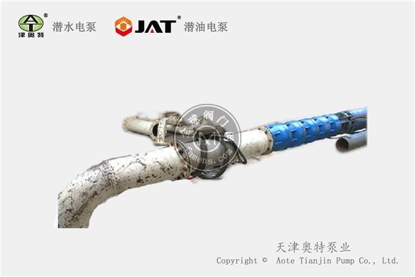 大流量高压热水深井潜水泵_卧式安装