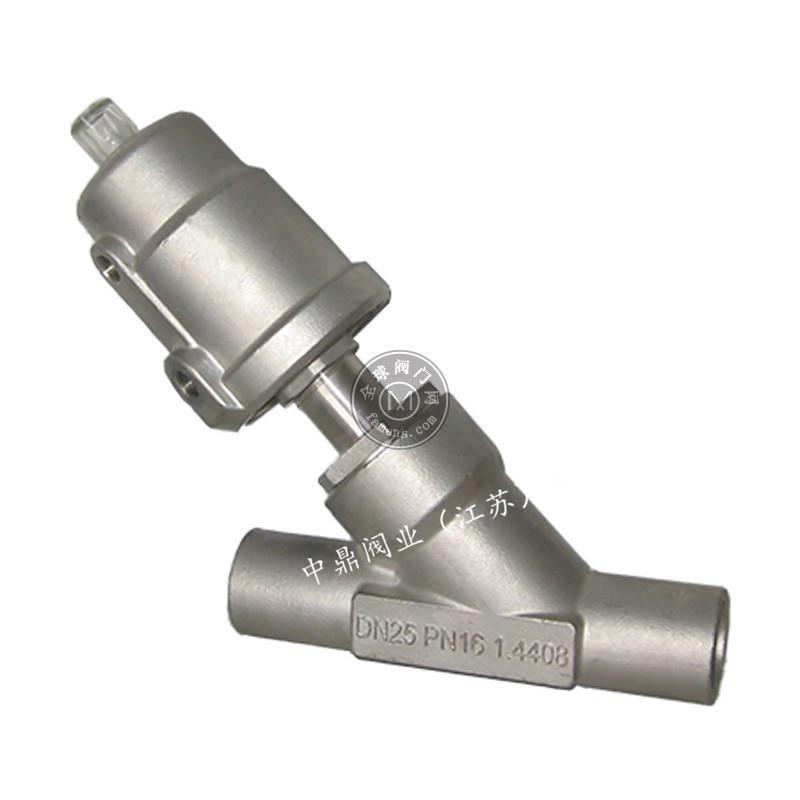 不锈钢气动焊接角座阀不锈钢头高温蒸汽压缩空气热水干燥剂