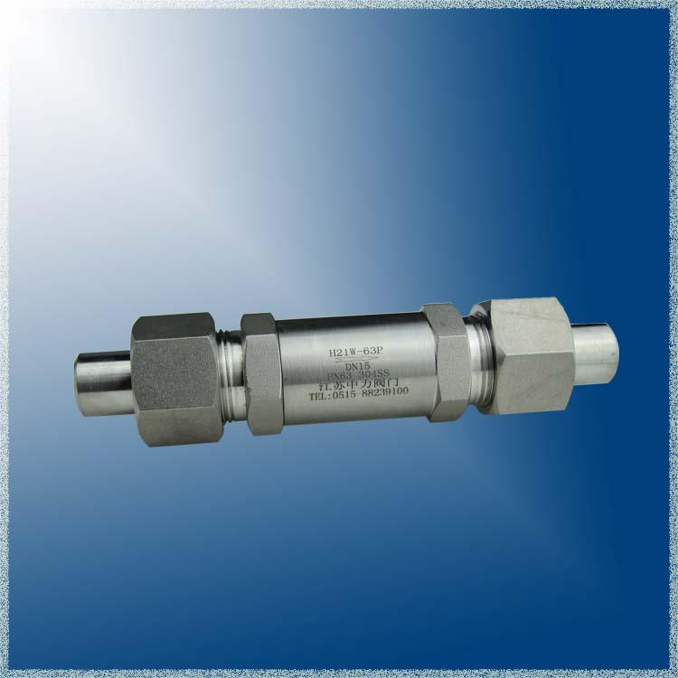 H21W焊接式高压单向阀