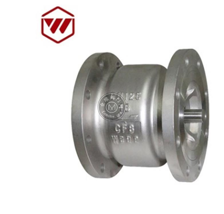 消聲止回閥H41W法蘭式止回閥不銹鋼材質 鑄造厚實 廠家生產