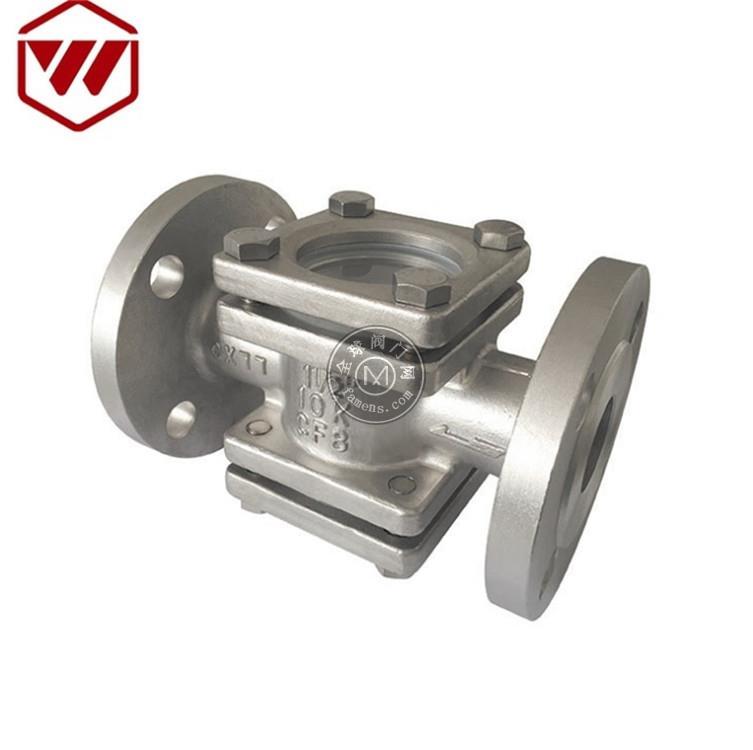 廠家直銷 不銹鋼日標直通視鏡 鑄造閥體 高壓四通視鏡 短頸設計