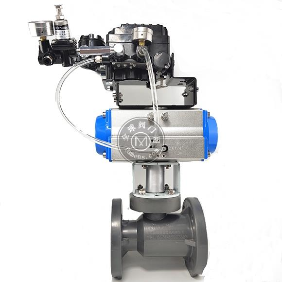 厂家供应气动pvc塑料法兰球阀耐腐蚀球阀Q641F-16
