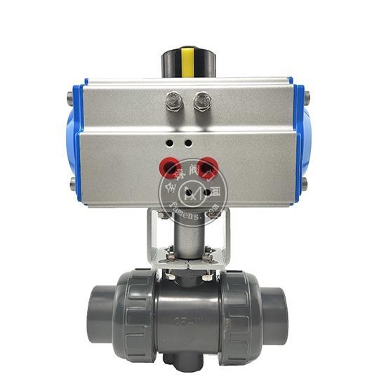 厂家直销 气动塑料对焊/螺纹球阀 SQ611气动UPVC RPP高平台球阀